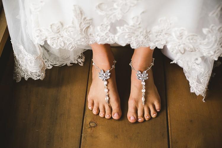 elegant muskoka dock wedding-11