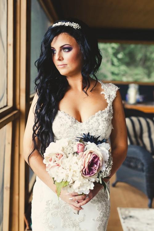 elegant muskoka dock wedding-15