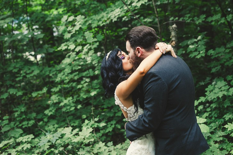 elegant muskoka dock wedding-26