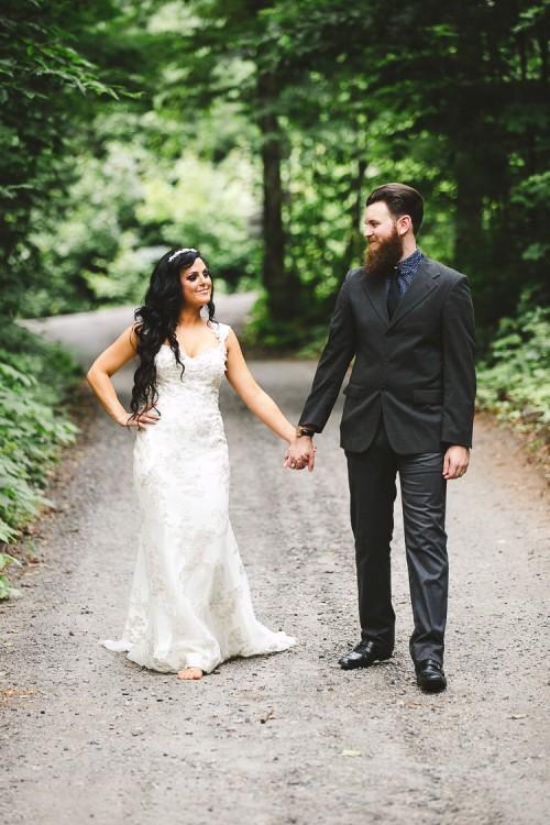 elegant muskoka dock wedding-27