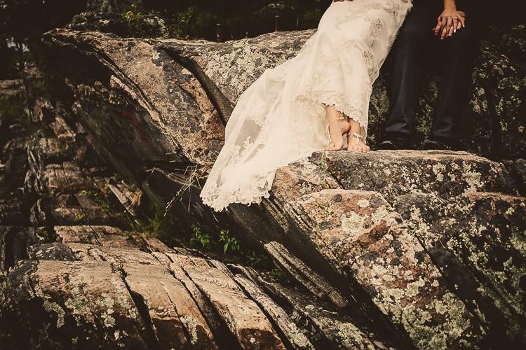 elegant muskoka dock wedding-33