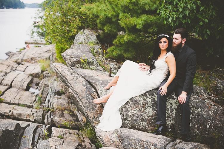 elegant muskoka dock wedding-34