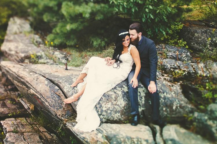 elegant muskoka dock wedding-35