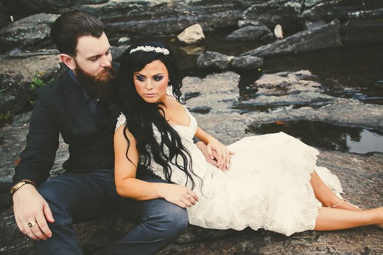 elegant muskoka dock wedding-36