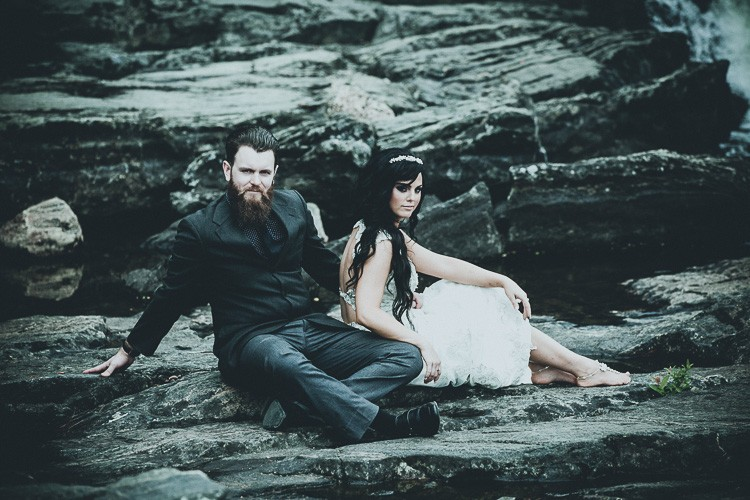 elegant muskoka dock wedding-38