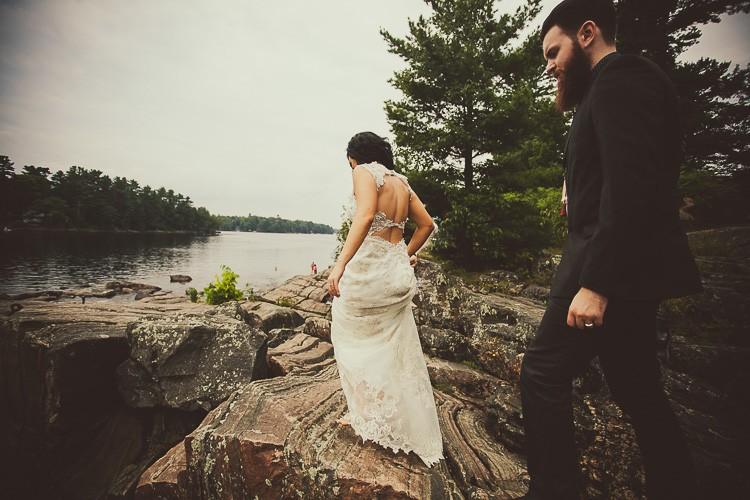 elegant muskoka dock wedding-40