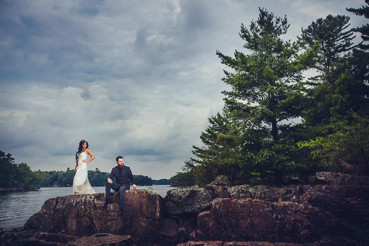 elegant muskoka dock wedding-42