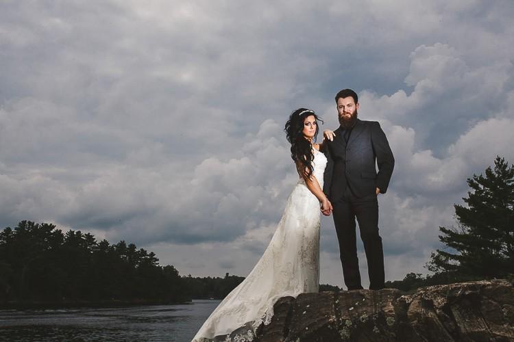 elegant muskoka dock wedding-43