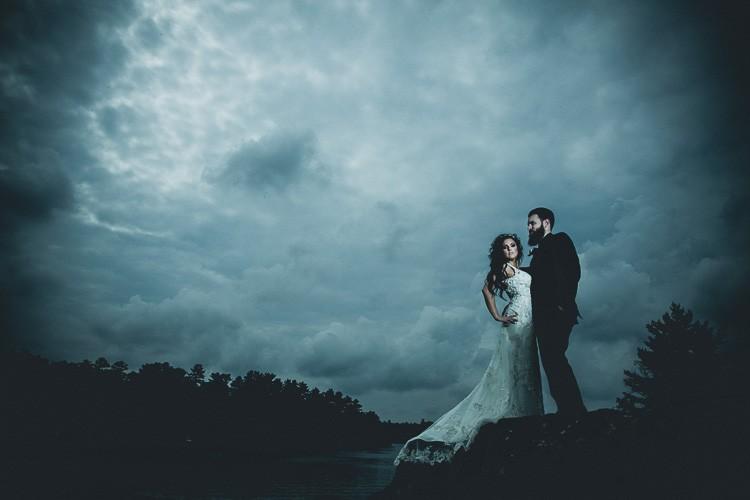 elegant muskoka dock wedding-44