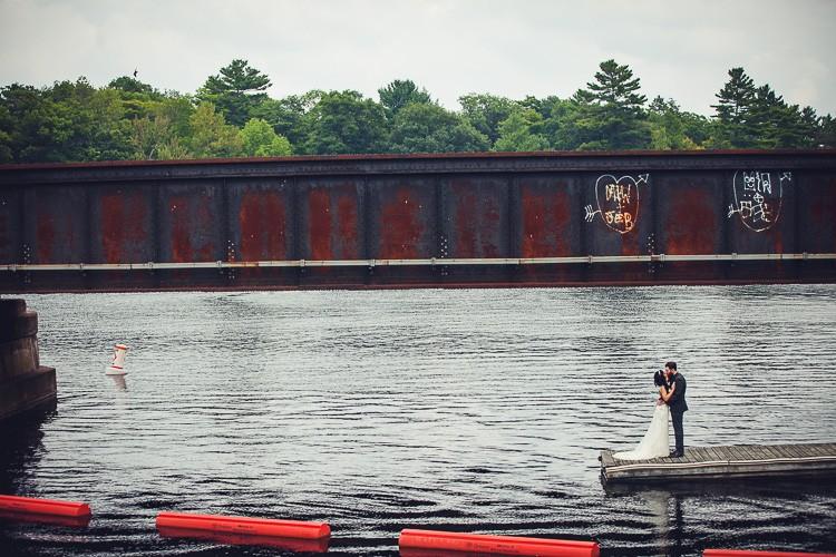 elegant muskoka dock wedding-46