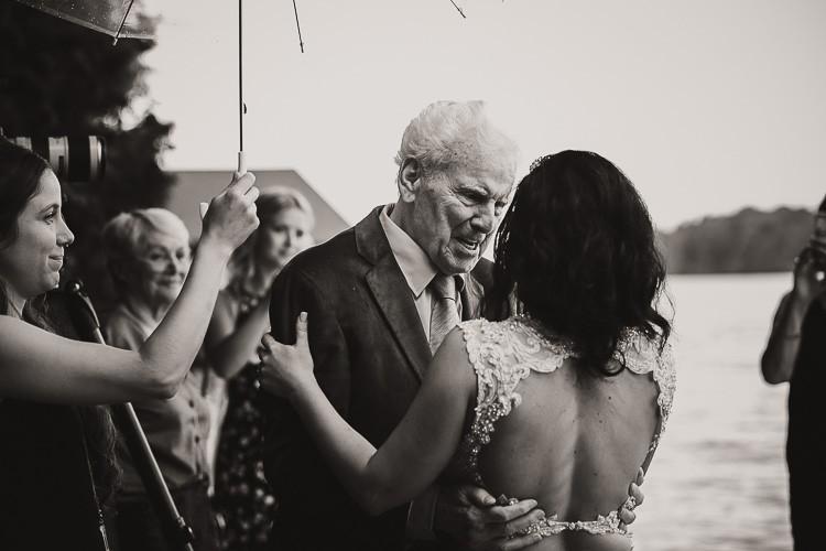 elegant muskoka dock wedding-69