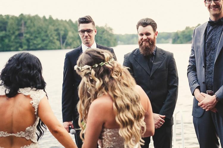 elegant muskoka dock wedding-71