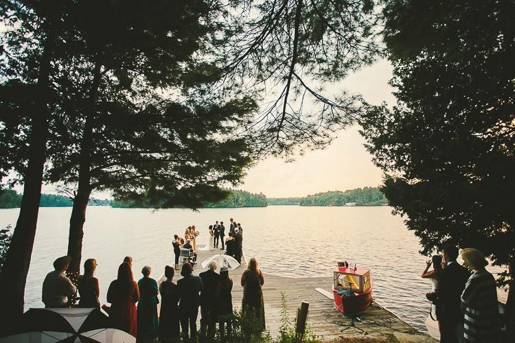 elegant muskoka dock wedding-83