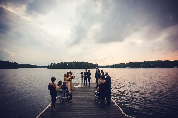 elegant muskoka dock wedding-85