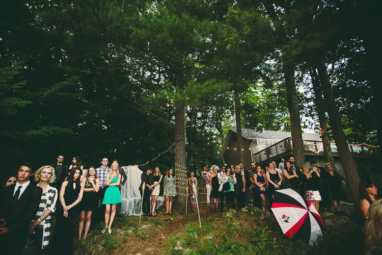 elegant muskoka dock wedding-86
