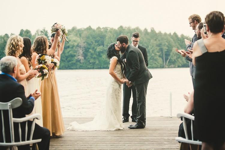 elegant muskoka dock wedding-87