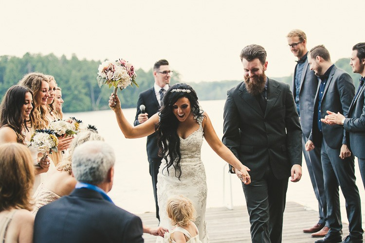 elegant muskoka dock wedding-88