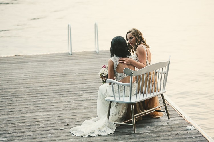 elegant muskoka dock wedding-89