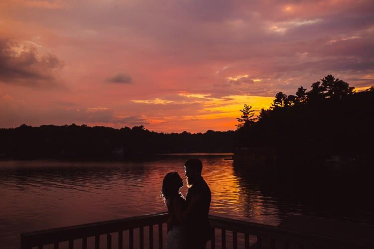elegant muskoka dock wedding-91